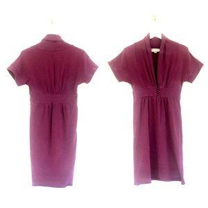 Brooklyn Industries Shawl Collar Deep V-Neck Dress